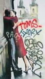 Arte della via, Praga, repubblica Ceca Immagini Stock Libere da Diritti
