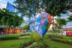 Arte della via della via principale a Bonifacio Global City il 1° settembre, 201 Fotografia Stock Libera da Diritti