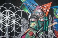 Arte della via a Sao Paulo fotografia stock