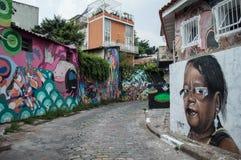 Arte della via a Sao Paulo fotografie stock