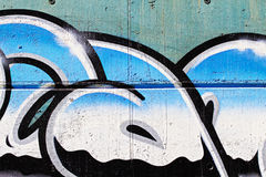 Arte della via, segmento di un graffito urbano sulla parete, lettere del cromo Immagini Stock Libere da Diritti