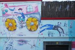 Arte della via su una casa a Buenos Aires in argentina fotografia stock libera da diritti