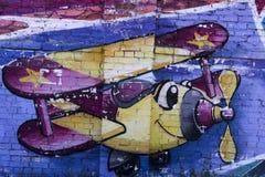 Arte della via un aereo Fotografia Stock