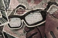 Arte della via un i vetri Fotografia Stock