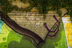 Arte della via una borsa Immagine Stock