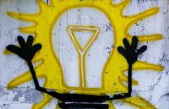 Arte della via una lampadina Fotografia Stock Libera da Diritti