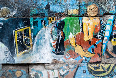 Arte della via - vecchio graffito sulla parete Fotografie Stock Libere da Diritti