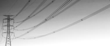 Arte delle linee ad alta tensione Immagine Stock