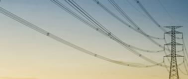Arte delle linee ad alta tensione Fotografia Stock Libera da Diritti