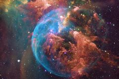 Arte dello spazio cosmico Nebulose, galassie e stelle luminose in bella composizione illustrazione di stock