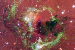 Arte dello spazio cosmico Nebulose, galassie e stelle luminose in bella composizione royalty illustrazione gratis