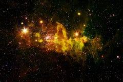 Arte dello spazio cosmico Nebulose, galassie e stelle luminose in bella composizione illustrazione vettoriale