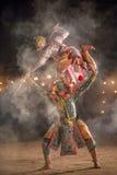 Arte dello spettacolo tailandese di Khon della storia di ramayana che balla il meglio di T fotografia stock libera da diritti