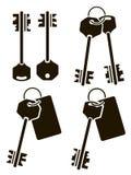 Arte dello stampino di chiavi fotografia stock