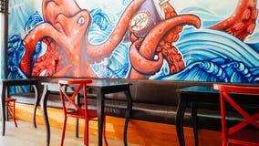 Arte dentro de um café imagem de stock