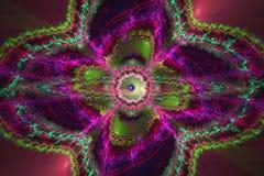 Arte di Abstrct Digital Tecnologie dei grafici di frattale illustrazione di stock