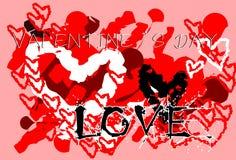 Arte di amore del fondo Immagine Stock