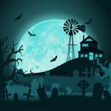 Arte di carta Scheda felice di Halloween Illustrazione di stile del taglio di vettore Fotografie Stock Libere da Diritti