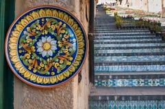 Arte di ceramico in Sicilia fotografia stock