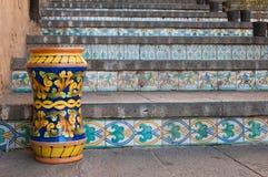 Arte di ceramico in Sicilia Fotografia Stock Libera da Diritti