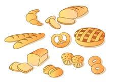 Arte di clip del pane Fotografia Stock Libera da Diritti
