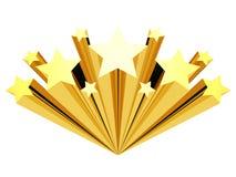 Arte di clip della stella dell'oro isolata su un bianco Immagini Stock