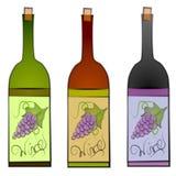 Arte di clip delle bottiglie di vino Immagini Stock Libere da Diritti