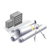 Arte di clip di progetto di costruzione Immagine Stock