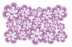 Arte di clip viola dentellare del fiore Fotografia Stock