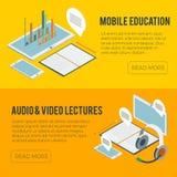 Arte di computer isometrica online di corsi di istruzione Immagine Stock