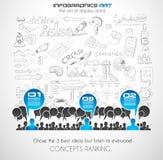 Arte di concetto di comunicazione di 'brainstorming' di lavoro di squadra Fotografia Stock
