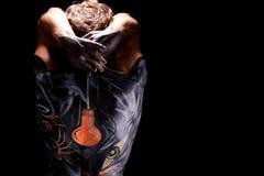 Arte di corpo sulla parte posteriore dell'uomo Fotografie Stock Libere da Diritti