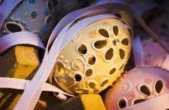 arte di cristallo del foro dell'uovo di Pasqua fotografia stock libera da diritti