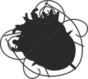 Arte di cuore Immagine Stock