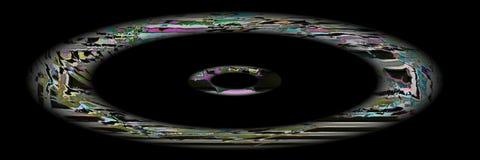 Arte di Digital, oggetti tridimensionali astratti con illuminazione morbida Immagini Stock