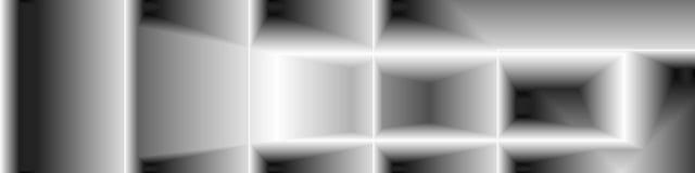 Arte di Digital, oggetti tridimensionali astratti con illuminazione morbida Immagini Stock Libere da Diritti