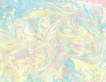 Arte di Ebru Pittura sull'acqua Immagine Stock Libera da Diritti