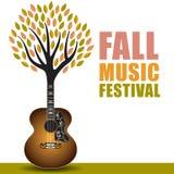 Arte di festival di musica di caduta royalty illustrazione gratis