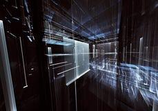 Arte di frattale - immagine del computer 3D, fondo tecnologico illustrazione vettoriale