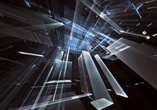 Arte di frattale - immagine del computer 3D, fondo tecnologico Immagine Stock