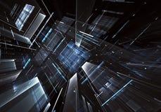 Arte di frattale - immagine del computer 3D, fondo tecnologico Immagine Stock Libera da Diritti