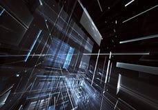 Arte di frattale - immagine del computer 3D, fondo tecnologico Fotografia Stock