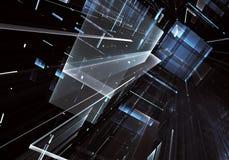 Arte di frattale - immagine del computer 3D, fondo tecnologico Fotografie Stock Libere da Diritti