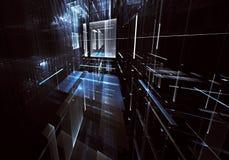 Arte di frattale - immagine del computer 3D, fondo tecnologico Fotografie Stock