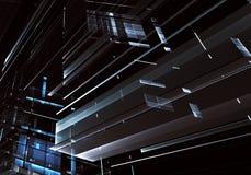 Arte di frattale - immagine del computer 3D, fondo tecnologico Immagini Stock Libere da Diritti