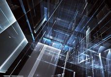 Arte di frattale - immagine del computer 3D, fondo tecnologico Immagini Stock