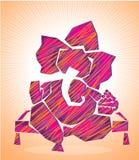 Arte 1 di ganesha di signore illustrazione di stock
