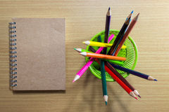 Arte di istruzione dell'attrezzatura su fondo sulla vista superiore Fotografia Stock