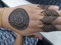 Arte di mehemdi della mano Immagini Stock