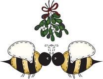 Arte di piega che bacia gli api Fotografia Stock